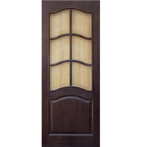 Межкомнатная дверь из массива сосны ПМЦ ДО 7 Тёмный лак