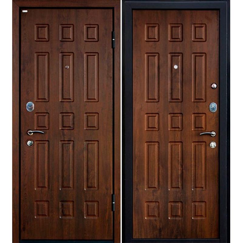 Дверь МеталЮр М3, темный орех
