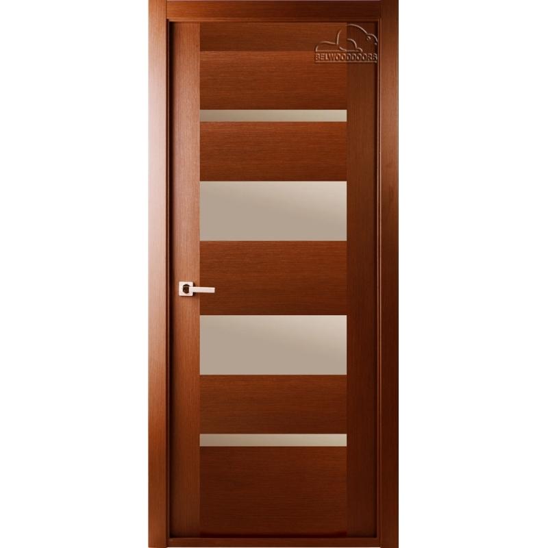 Дверь межкомнатная шпонированная Белвуддорс Мирелла ЧО Орех