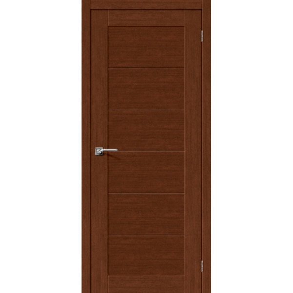 Дверь межкомнатная Евро шпон Эльпорта Легно 21 Brown Oak  Elporta Legno
