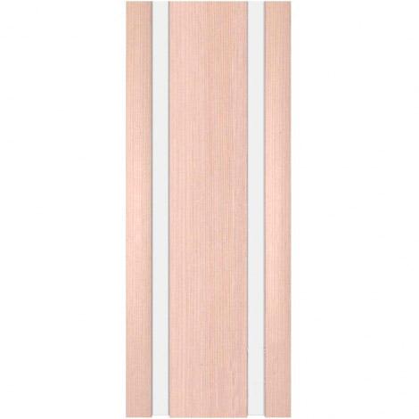 Межкомнатная дверь МДФ Экошпон Ладора Модель 3/2 белый триплекс Орех капучино