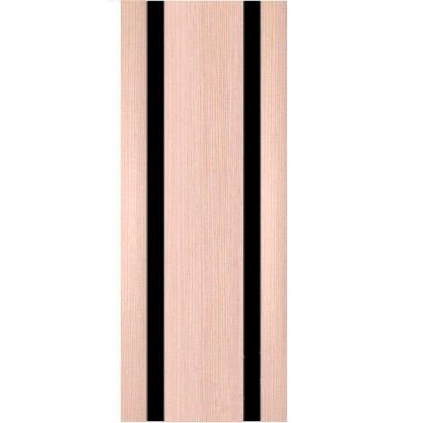Межкомнатная дверь МДФ Экошпон Ладора Модель 3/2 черный триплекс Орех капучино