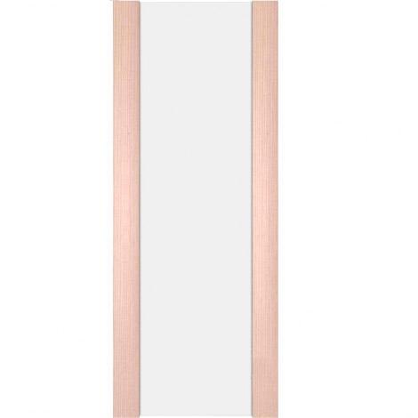 Межкомнатная дверь МДФ Экошпон Ладора Модель 3/3 белый триплекс Орех капучино