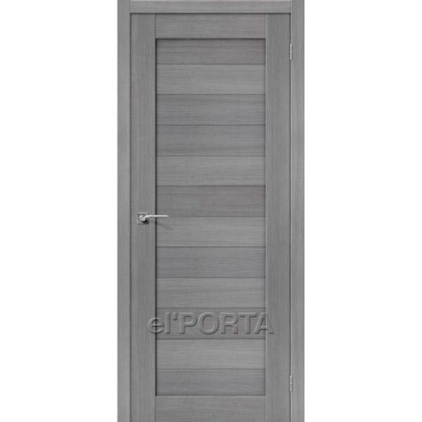 Дверь межкомнатная экошпон Эльпорта Порта 21 3D Grey Elporta Porta X