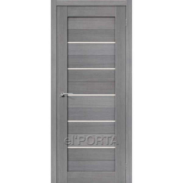 Дверь межкомнатная экошпон Эльпорта Порта 22 3D Grey Elporta Porta X
