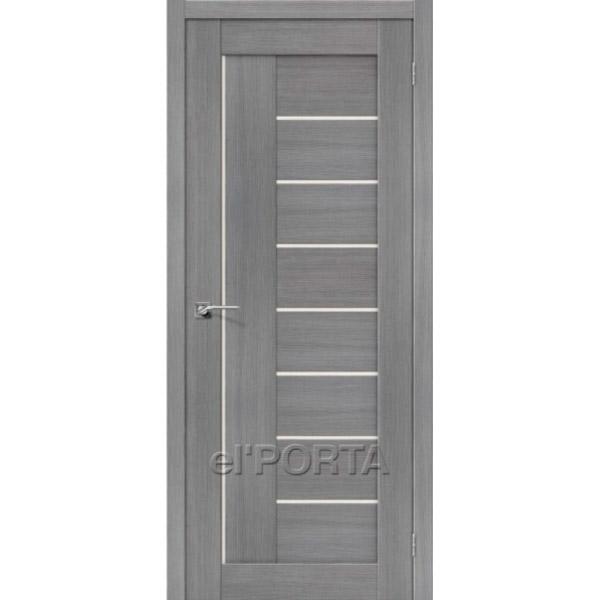 Дверь межкомнатная экошпон Эльпорта Порта 29 3D Grey Elporta Porta X