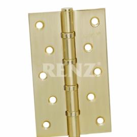 Петля дверная RENZ универсальная декоративная 125- 4BB FH SB Латунь матовая