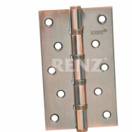 Петля дверная RENZ универсальная декоративная 125- 4BB FH AC Медь античная