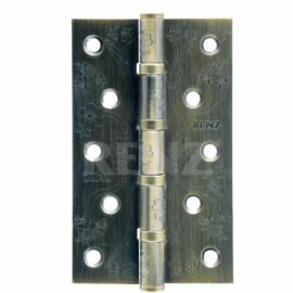 Петля дверная стальная универсальная RENZ декоративная DECOR FL 125-4BB FH AB Бронза античная
