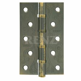 Петля дверная стальная универсальная RENZ декоративная DECOR FL 125-4BB FH MAB Бронза античная матовая