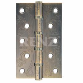 Петля дверная стальная универсальная RENZ декоративная DECOR FL 125-4BB FH CF Кофе