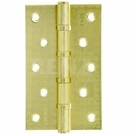 Петля дверная стальная универсальная RENZ декоративная DECOR MR 125-4BB FH SG Латунь матовая