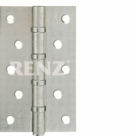 Петля дверная стальная универсальная RENZ декоративная DECOR MR 125-4BB FH SN Никель матовый