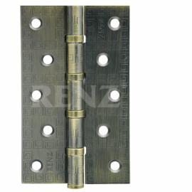Петля дверная стальная универсальная RENZ декоративная DECOR MR 125-4BB FH MAB Бронза античная матовая