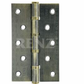 Петля дверная стальная универсальная RENZ декоративная DECOR MR 125-4BB FH CF Кофе