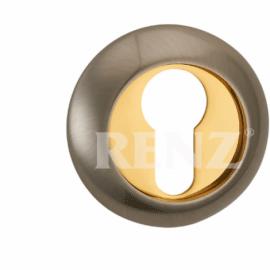 Накладка круглая на цилиндр RENZ ET (N) 08 SG/GP Золото матовое\золото