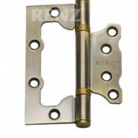 Петля дверная RENZ стальная универсальная 100- 2BB FH AB без ВР Бронза античная