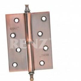 Петля дверная RENZ универсальная декоративная RENZ 100x75x2 FH PB Латунь блестящая
