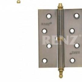 Петля дверная RENZ универсальная декоративная RENZ 100x75x2 FH SB Латунь матовая