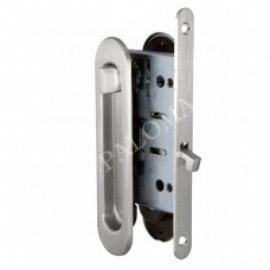 Комплект ручек для раздвижных дверей с замком RENZ SDH-BK 501 GP Латунь блестящая