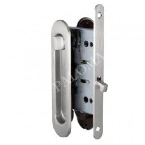 Комплект ручек для раздвижных дверей с замком RENZ SDH-BK 501 AB Бронза античная