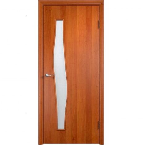 Межкомнатная дверь МДФ ламинированная Verda ПО С10 Груша