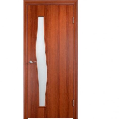 Межкомнатная дверь МДФ ламинированная Verda ПО С10 Итальянский орех