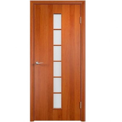 Межкомнатная дверь МДФ ламинированная Verda ПО С12 Груша