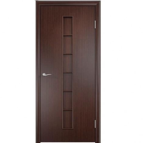 Межкомнатная дверь МДФ ламинированная Verda ПГ С12 Венге