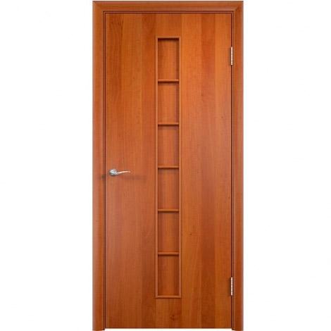 Межкомнатная дверь МДФ ламинированная Verda ПГ С12 Груша