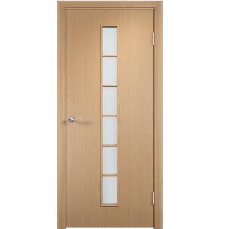 Межкомнатная дверь МДФ ламинированная Verda ПО С12 Беленый дуб