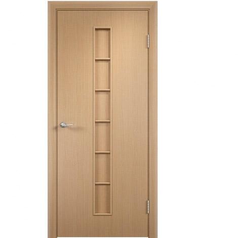Межкомнатная дверь МДФ ламинированная Verda ПГ С12 Беленый дуб