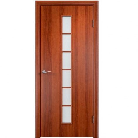 Межкомнатная дверь МДФ ламинированная Verda ПО С12 Итальянский орех