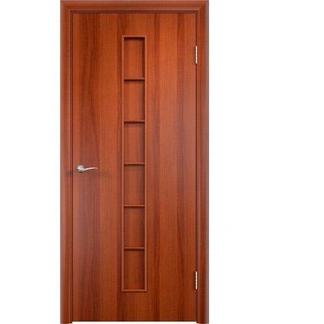 Межкомнатная дверь МДФ ламинированная Verda ПГ С12 Итальянский орех
