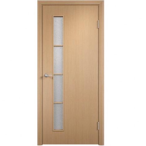 Межкомнатная дверь МДФ ламинированная Verda ПО С14 Беленый дуб