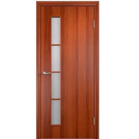 Межкомнатная дверь МДФ ламинированная Verda ПО С14 Итальянский орех