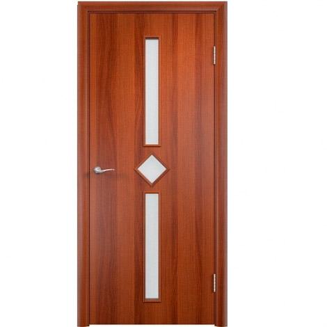 Межкомнатная дверь МДФ ламинированная Verda ПО С24 Итальянский орех