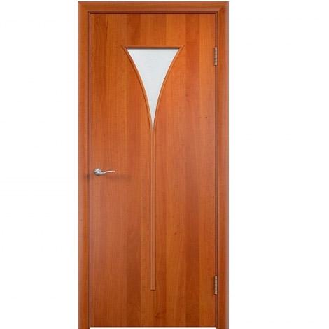 Межкомнатная дверь МДФ ламинированная Verda ПО С4 Груша