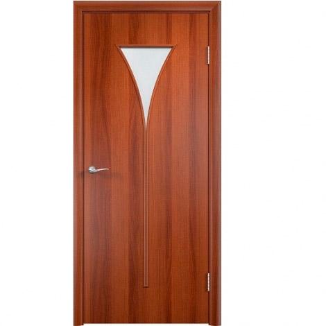 Межкомнатная дверь МДФ ламинированная Verda ПО С4 Итальянский орех