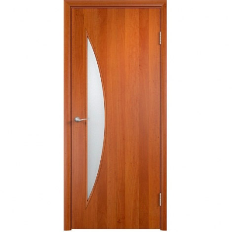 Межкомнатная дверь МДФ ламинированная Verda ПО С6 Груша