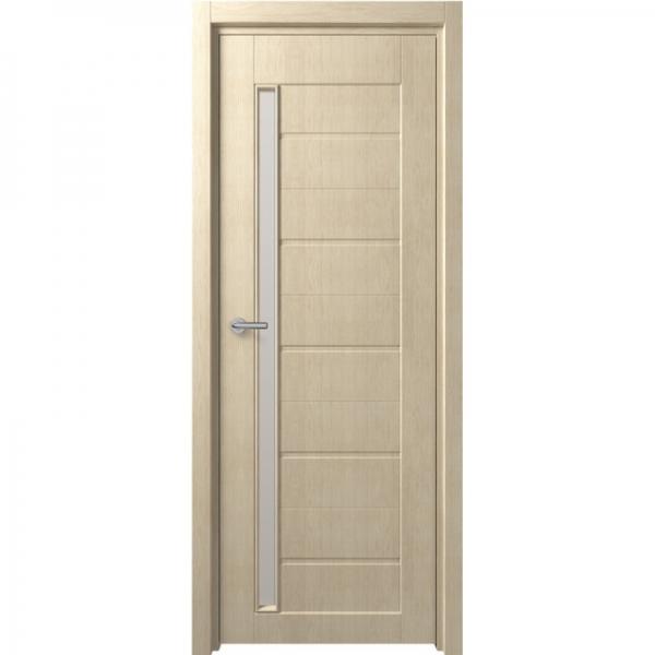 Межкомнатная дверь F-4 ПО Беленый дуб
