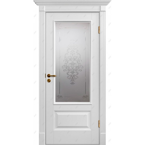 Межкомнатная дверь Авалон 12 (витраж Лувр )