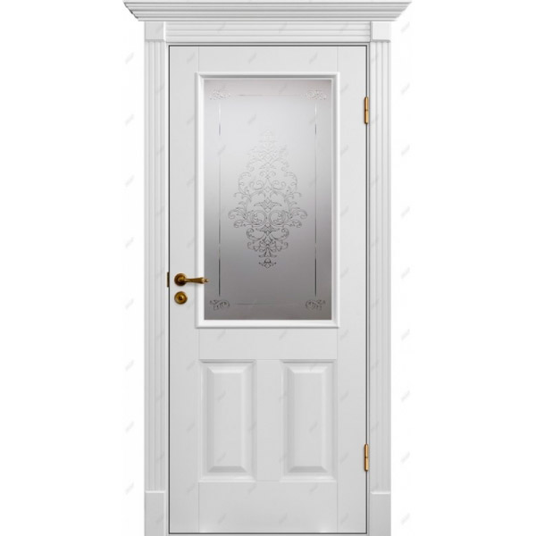 Межкомнатная дверь Авалон 20 (витраж Лувр )