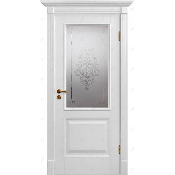 Межкомнатная дверь Авалон 4 (витраж Лувр)