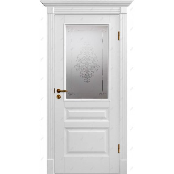 Межкомнатная дверь Авалон 8 (витраж Лувр)
