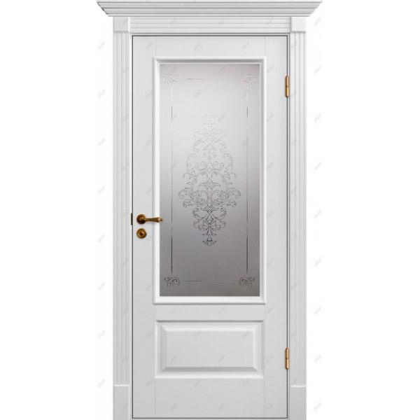 Межкомнатная дверь Коллекция Классика 12 (витраж Лувр)