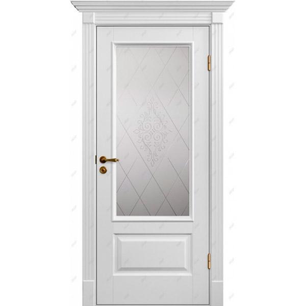 Межкомнатная дверь Коллекция Классика 12 (витраж Версаль)