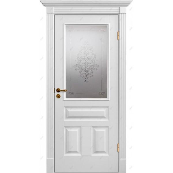 Межкомнатная дверь Коллекция Классика 16 (витраж Лувр)