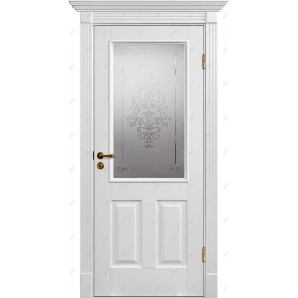 Межкомнатная дверь Коллекция Классика 20 (витраж Лувр)