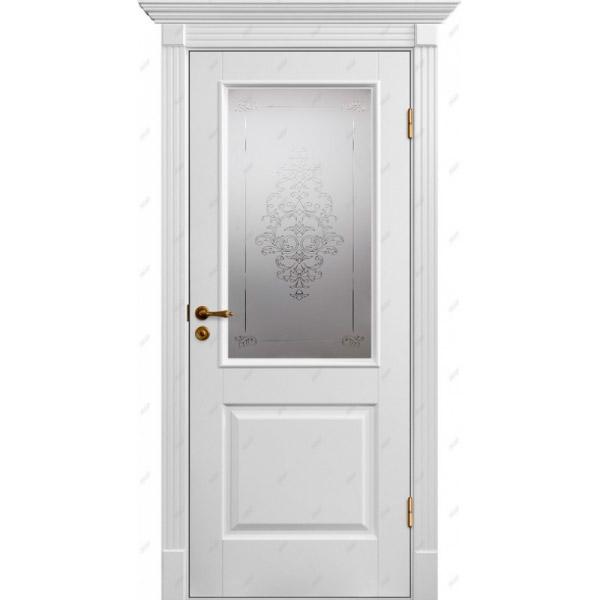 Межкомнатная дверь Коллекция Классика 4 (витраж Лувр)
